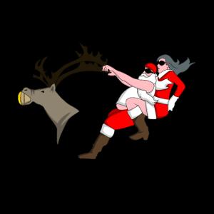 Rock n Roll Santa Weihnachten Geschenk