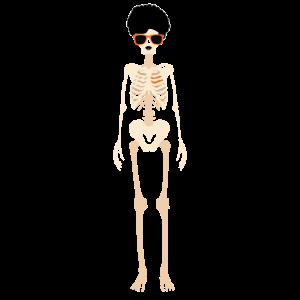 Hipster Skelett Frau