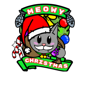 Meowy Christmas Weihnachtskatze