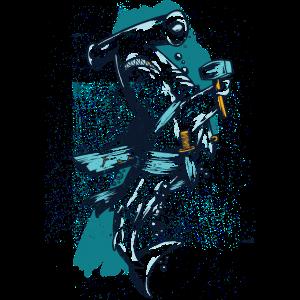 Hammerhai Hai Fisch karikatur