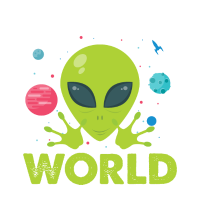 Outta this World - funny alien space Shirt