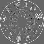t shirt calendrier zodiaque 12 signes fond sombre