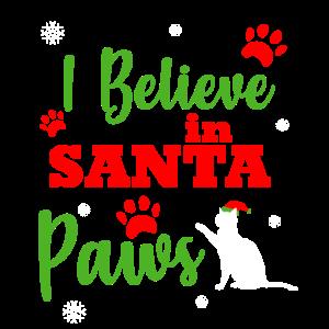 Pfoetchen Kaetzchen Katze Geschenk Santa Claus