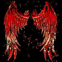 Engel Teufel Fluegel Angel Devil Wings 2reborn red
