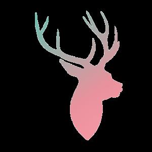 Hirsch rosablau