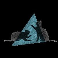 Kämpfende Katzen Dreieck Schatten