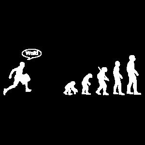 Evolution verpasst Sarkasmus Humor Geschenk Shirt