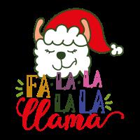 Süßes Lama Weihnachten Llama Geschenk Fa La La La