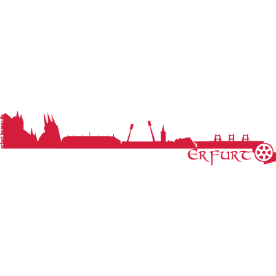Erfurt Skyline - Die Skyline von Erfurt. - petersberg,Thüringen,Steigerwald,Puffbohne,Messe,Landeshauptstadt,Krämerbrücker,Erfurt,EF,Dom