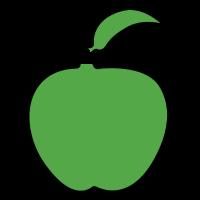 Grüne süße Geschenkidee von Apple