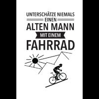 Alter Mann Mit Fahrrad