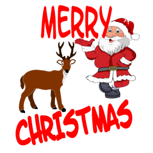 Rentiere Santa Merry Christmas