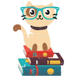 Nerd Cat Book Reader with Glasses Cute Geek Gift