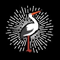 Storch Schwarzstorch Klapperstorch Vogel Geschenk