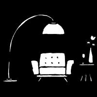 Sessel Lampe tischchen