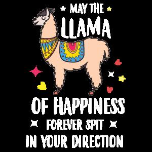 The llama of happiness