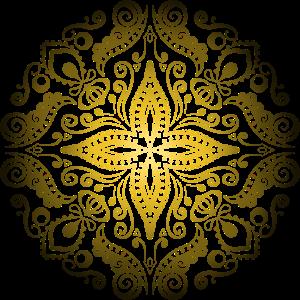 Mandala Gold Luxus Yoga Meditation Geschenk