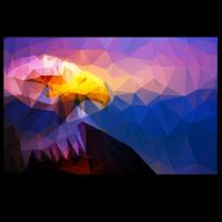 Adler reduzierte Polygone (Gelb)