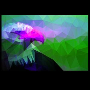 Adler reduzierte Polygone (Violett)