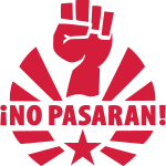 No Pasaran Raised Fist T-Shirts and Hoodies