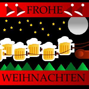 Weihnachtsschlitten - Weihnachten - Bierkrug