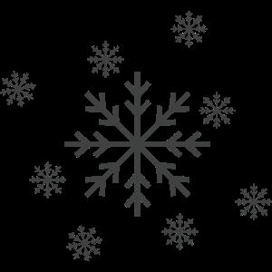 Simpler Schneeflocken Aufdruck