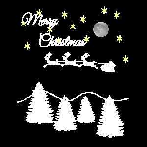 Fliegender Weihnachtsmann Merry Christmas Shirt