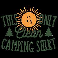 Dies ist mein nur sauberes Camping Shirt Geschenk
