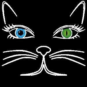 Katzen Augen Katzendame Katze T-Shirt