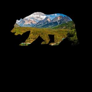 Finnland Bär mit Landschaft Geschenk Skandinavien