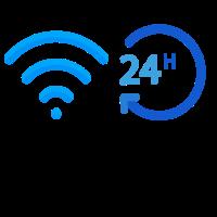 wlan 24 h 24 Stunden Wireless wifi Internet