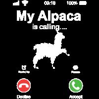 Anruf Alpaka Geschenk Lama Tier Handy lustig