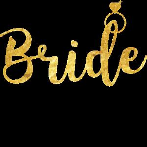 Braut Diamant Gold Ring JGA Hochzeit Geschenk