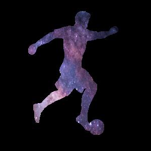 Fußballspieler Galaxie Fußball Space