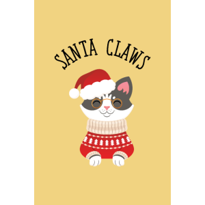 Santa Claus Claws Christmas Cute Geeky Cat