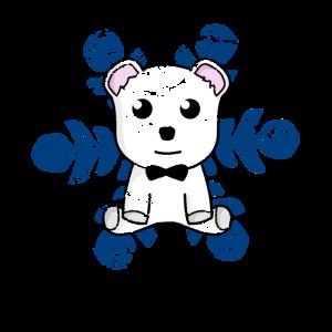 Wintertime Teddybär Geschenk Schneeflocken