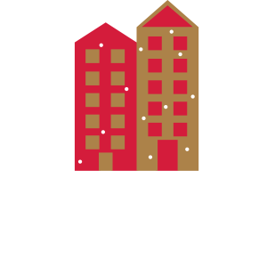 Wintertime Christmas Eve Häuser Schnee Geschenk