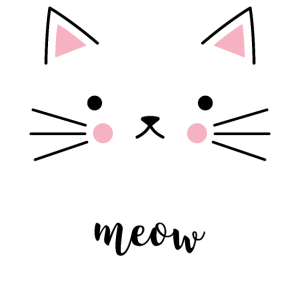 Katzengesicht Meow