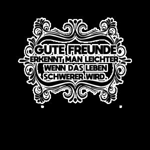 Gute Freunde Shirt - wahre Freundschaft - Geschenk