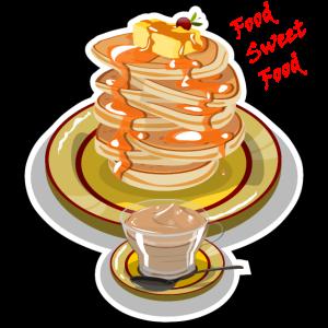 Pfannkuchen mit Karamell