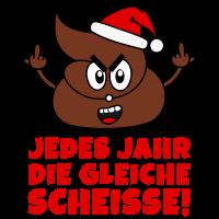 Scheiß Weihnachten Scheiße Kacke Stinkefinger rot