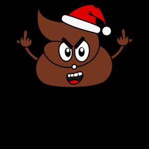 Scheiß Weihnachten Scheiße Kacke Stinkefinger sw