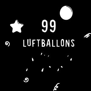 99 Luftballons auf ihrem Weg zum Horizont