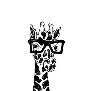 Cute Geeky Giraffe
