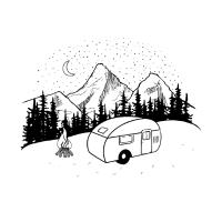 Berge Natur Wohnwagen Natur Campen Camping