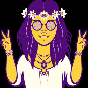 Hippy Hippie Girl Retro Vintage 60s 70's Style