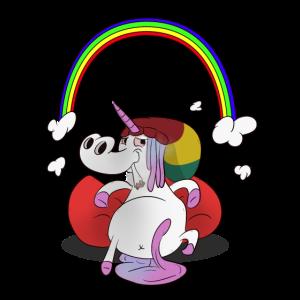 Unicorn / Einhorn - Chillen mit Regenbogen