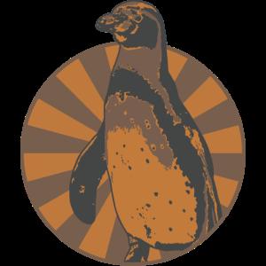 Pinguin im Zirkus Style mit Washed Effekt