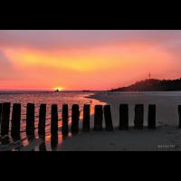 Sonnenaufgang am Strand von Heringsdorf Nr. 52