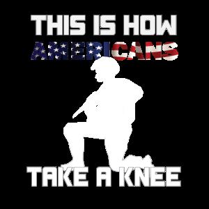 So nehmen Amerikaner ein Knien